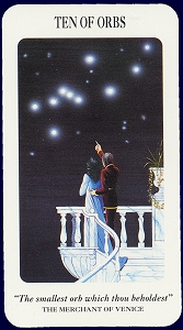 Ten of Orbs, Shakespearian Tarot