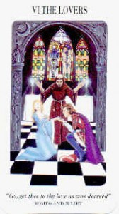 VI The Lovers, Shakespearian Tarot
